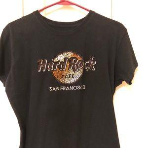 Official Hard Rock Café Shirt LG but fits snug